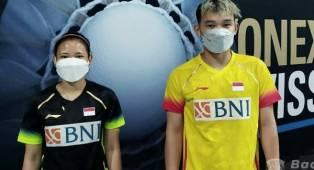 Rinov/Mentari Kandas di Babak Kedua Swiss Open 2021