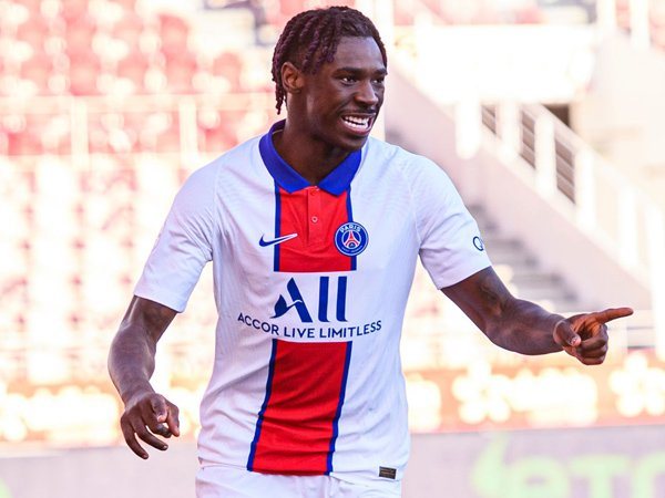 Striker Paris Saint-Germain, Moise Kean.