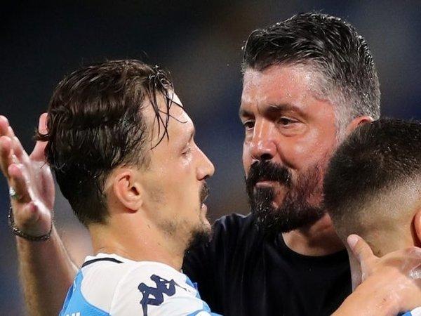 Agen Mario Rui membantah jika kliennya sedang bertikai dengan pelatih Napoli saat ini yakni Gennaro Gattuso / via EPA