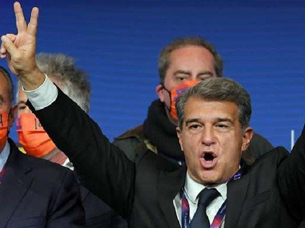 Joan Laporta kembali terpilih jadi Presiden Barcelona. (Images: Getty)