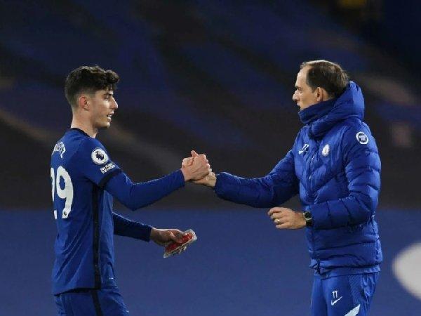 Thomas Tuchel senang dengan penampilan apik Kai Havertz di laga kontra Everton.