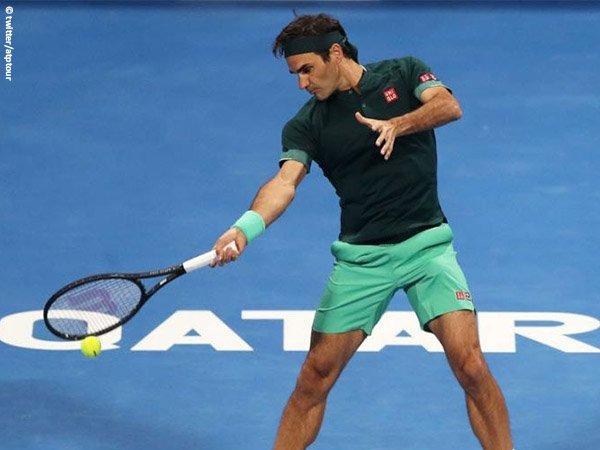 Roger Federer melenggang ke perempatfinal Qatar Open 2021