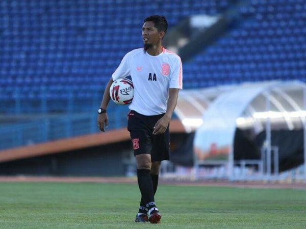 Asisten pelatih Borneo FC, Ahmad Amiruddin