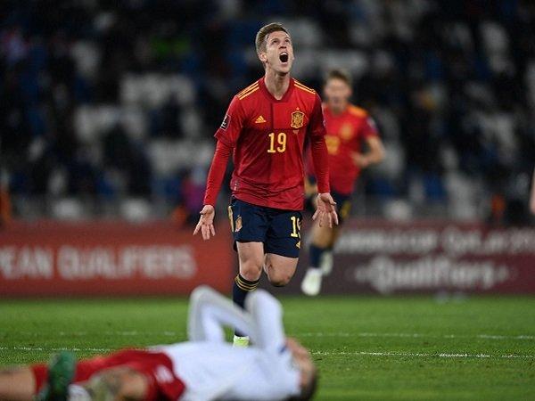 Dani Olmo berhasil mencetak gol kemenangan untuk Spanyol atas Georgia.