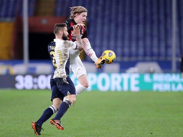 AC Milan jamu Sampdoria di Serie A.