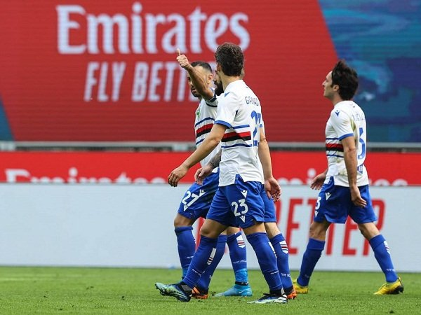 Sampdoria sukses tahan AC Milan di kandang
