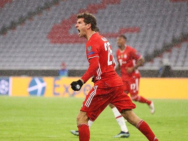 Thomas Muller keluhkan ketidakmampuan Bayern manfaatkan peluang mencetak gol kontra PSG.