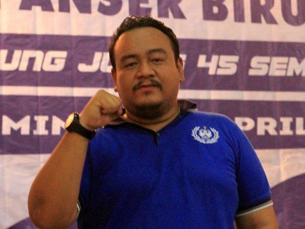 Ketum kelompok suporter PSIS Semarang, Panser Biru, Galih Eko Putranto atau Galih Ndog