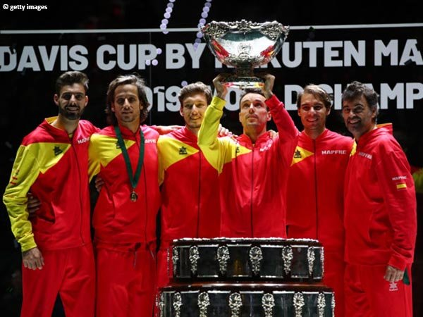 Tim Spanyol juara bertahan Davis Cup