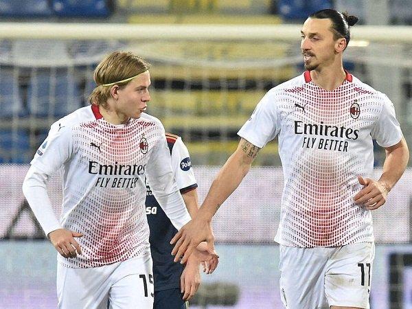 Jens Petter Hauge dan Zlatan Ibrahimovic
