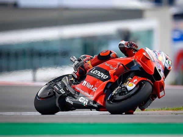 Jack Miller melesat terdepan pada sesi warm-up MotoGP Portugal.