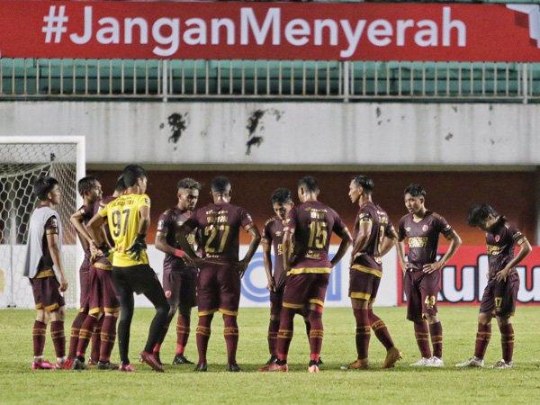 Skuat PSM Makassar pada laga semifinal leg pertama Piala Menpora 2021