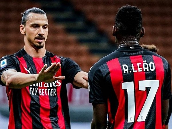 Zlatan Ibrahimovic dan Rafael Leao