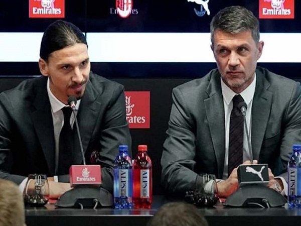 Ikon Milan Zlatan Ibrahimovic dan Paolo Maldini