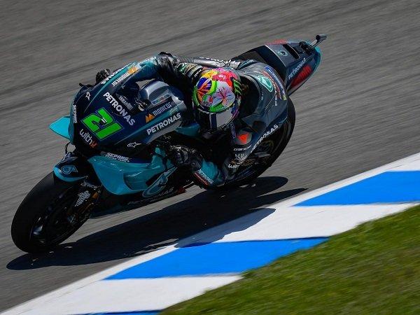 Franco Morbidelli sedih kalah cepat dibanding Fabio Quartararo di kualifikasi GP Spanyol.