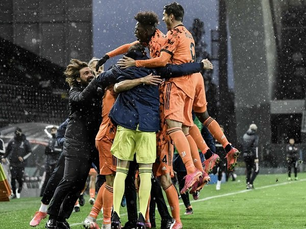 Andrea Pirlo gembira melihat determinasi Juventus kontra Udinese.