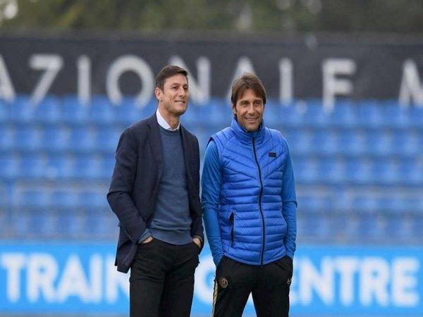 Javier Zanetti dan Antonio Conte / via FC Inter