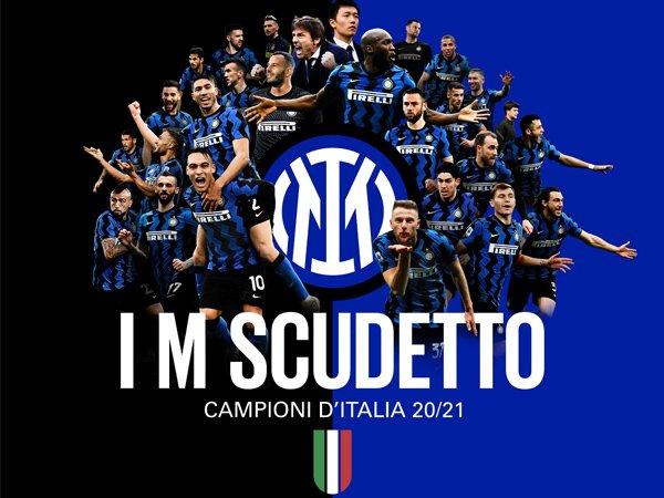 Inter Milan juara Serie A 2020/21.