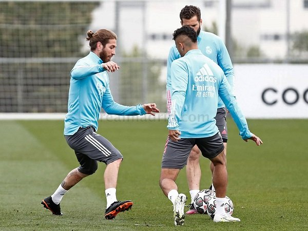 Sergio Ramos berlatih lagi bersama Real Madrid.