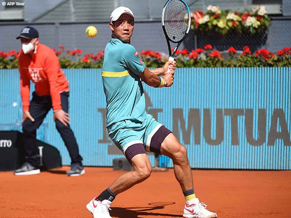 Kei Nishikori lolos ke babak kedua Madrid Open 2021
