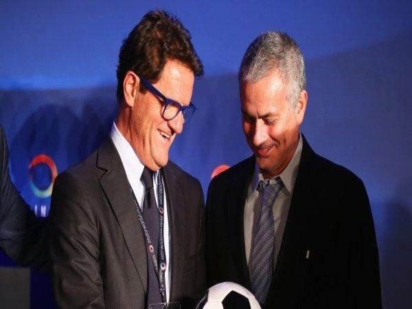 Fabio Capello dan Jose Mourinho / via Getty Images