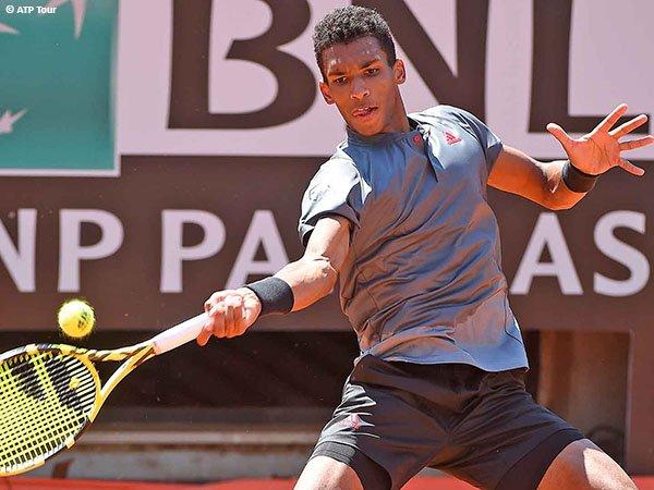 Felix Auger Aliassime lolos ke babak kedua Italian Open 2021