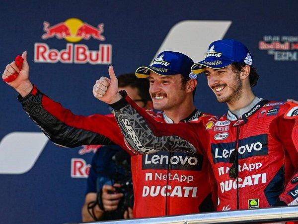 Francesco Bagnaia turut senang lihat Jack Miller menangi GP Spanyol.