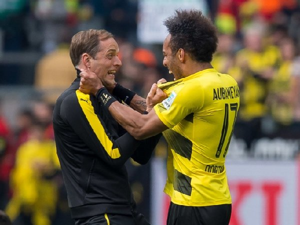Thomas Tuchel dan Pierre-Emerick Aubameyang bekerja sama di Borussia Dortmund