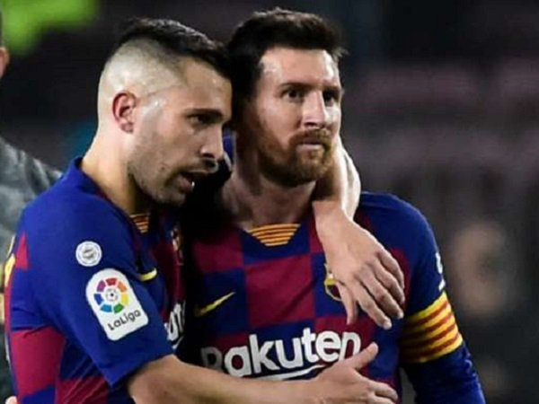 Bek sayap Barcelona, Jordi Alba bersama Lionel Messi. (Images: Getty)