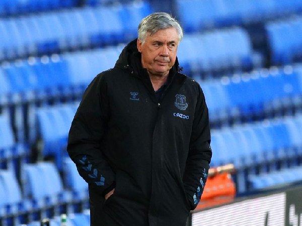 Carlo Ancelotti menyaksikan Everton kalah dari Sheffield United
