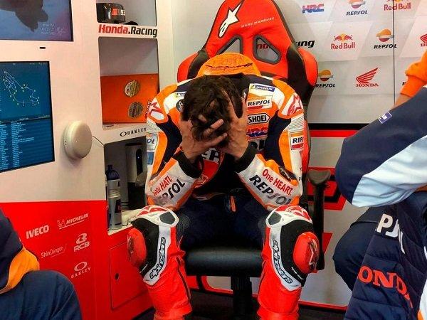 Marc Marquez frustasi gagal manfaatkan peluang emas di Le Mans.