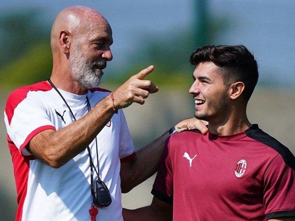 Stefano Pioli dan Brahim Diaz