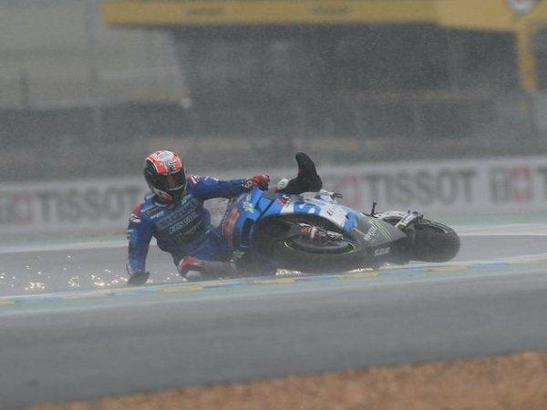 Alex Rins kecewa berat tidak bisa selesaikan balapan di Le Mans.