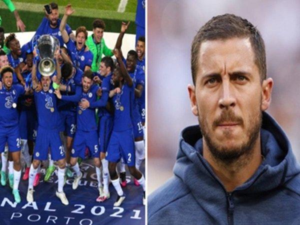 Sudah Jadi Bagian Real Madrid, Hazard Tak Rayakan Kemenangan Chelsea di UCL