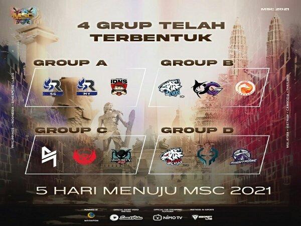 Hasil Undian Grup MSC 2021: Beda Nasib EVOS Legends dan Bigetron Alpha