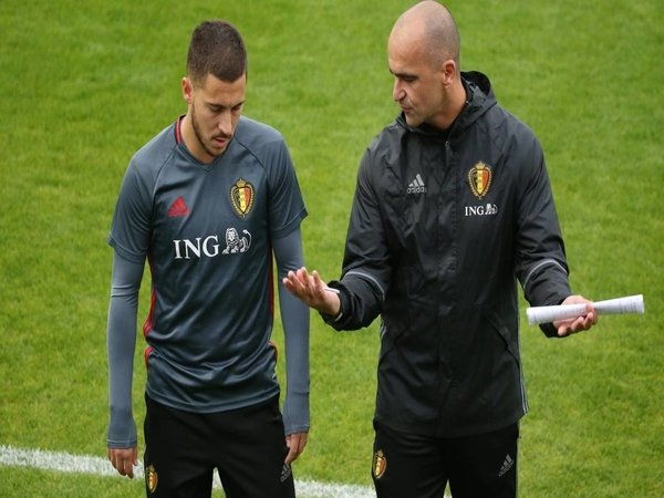Roberto Martinez pede Eden Hazard bisa bersinar bersama Timnas Belgia di Euro 2020 / via Getty Images