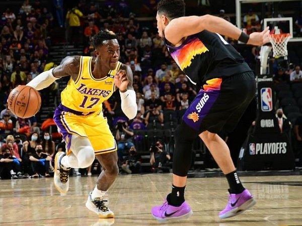 Point guard Los Angeles Lakers, Dennis Schroder saat melawan Los Angeles Lakers. (Images: Getty)