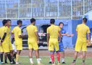 Eduardo Almeida Tes Pemain Arema FC Di Laga Uji Cona Kontra Rans Cilegon FC