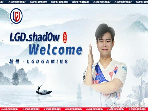 "LGD Gaming Boyong Eks Jungler MAD Lions, Zhiqiang ""shad0w"" Zhao"