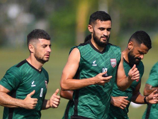 Latihan skuat Borneo FC jelang menghadapi Persita Tangerang