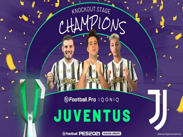 Final eFootball Pro IQONIQ 20/21: Juventus Juara usai Lumat AS Monaco 3-1