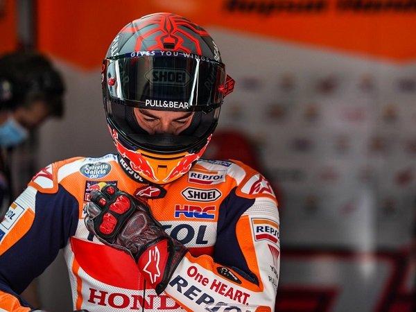 Marc Marquez ambil sisi positif dari kegagalan finish di GP Catalunya.