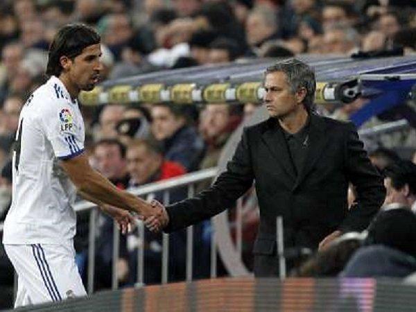 Sami Khedira saat masih dilatih Jose Mourinho.