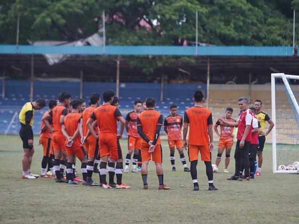 Latihan skuat Persiraja Banda Aceh jelang Liga 1