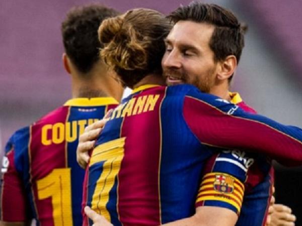 Antoine Griezmann bersama Lionel Messi. (Images: Getty)