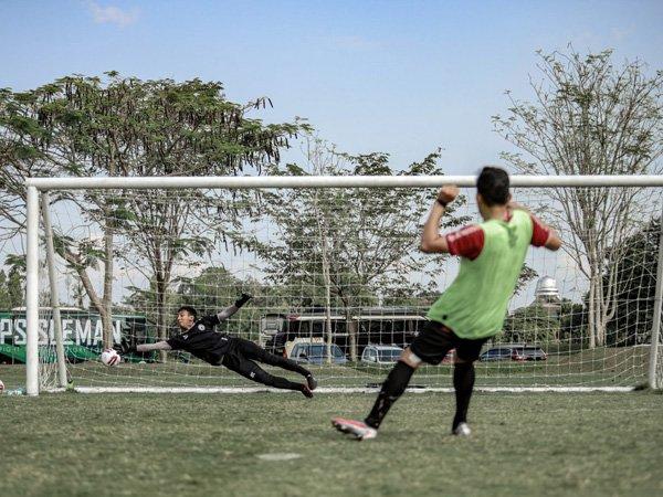 Latihan skuat PSS Sleman jelang TC di Cikarang