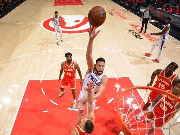 Point guard Philadephia 76ers, Ben Simmons saat melawan Atlanta Hawks. (Images: Getty)