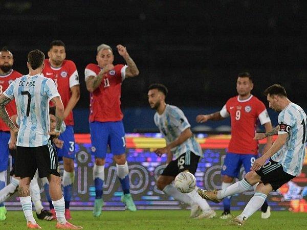 Tendangan bebas Lionel Messi gagal menangkan Argentina atas Cile