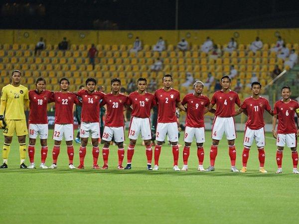 Skaut timnas Indonesia saat tampil di Kualifikasi Piala Dunia