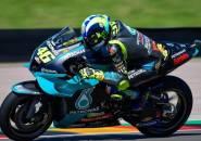 Hujan Hambat Laju Valentino Rossi di FP2 MotoGP Belanda
